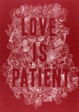 Love is Patient - Greetings Card (Red)