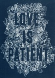 Love is Patient - Greetings Card (Blue)