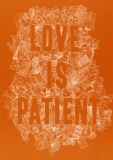 Love is Patient - Greetings Card (Orange)
