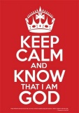 Keep Calm & Know God - Poster