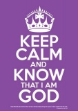 Keep Calm & Know God - Poster (Purple)