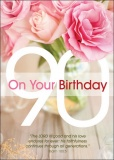 90th On Your Birthday Greetings Card