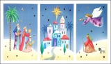 Figures Outside Nazareth Windowed - Pack of 5 Christmas Cards