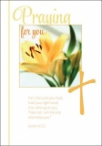 Praying for You - Greetings Card - Isaiah 41:13