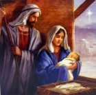 Jesus, Mary & Joseph Christmas Cards - Pack of 5