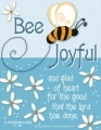 Bee Joyful - Fridge Magnet