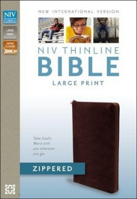 NIV Thinline Large Print Zipped Bible