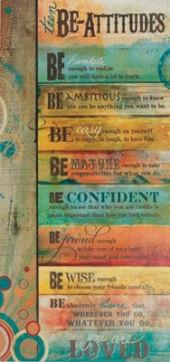 Teen Beatitudes Young Peoples Wall Plaque