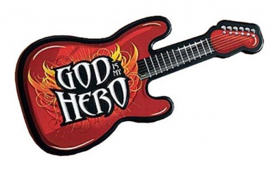 God is my Hero Guitar Childrens Wall Plaque