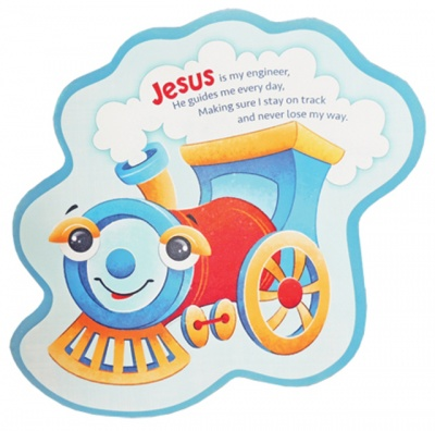 Steam Engine Childrens Wall Plaque