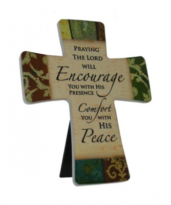 Praying The Lord Will Encourage - Porcelain Cross