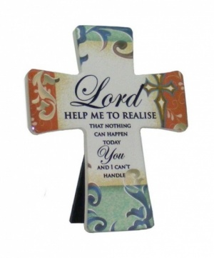 Lord Help Me To - Porcelain Cross