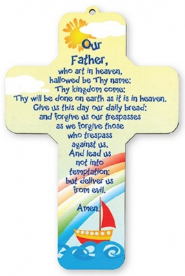 Lords Prayer - Wooden Cross Wall Plaque