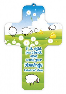 Count Your Blessings - Wooden Cross Wall Plaque