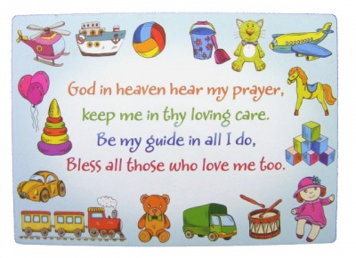 God In Heaven - Wooden Plaque