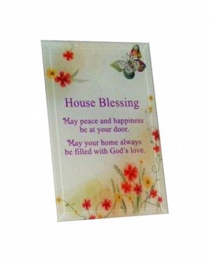 House Blessing - Glass Plaque
