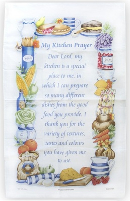 Kitchen Prayer Tea Towel 2 Pack