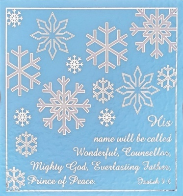 His Name will be Called...Snowflake Textured Christmas Cards - Pack of 10