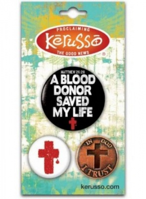 Blood Donor 3 Badge Set