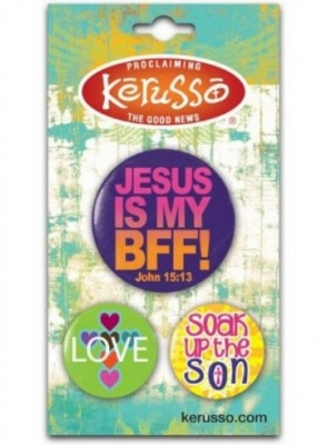 Jesus is my Best Friend Forever 3 Badge Set