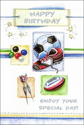Happy Birthday - Greetings Card (Sports)