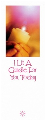 I Lit A Candle For You - Greetings Card