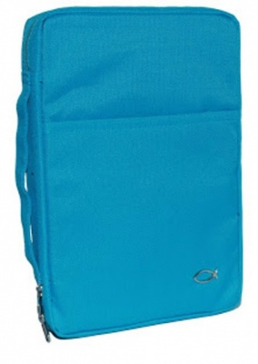 Classic Canvas Large Bible Cover (Turquoise)