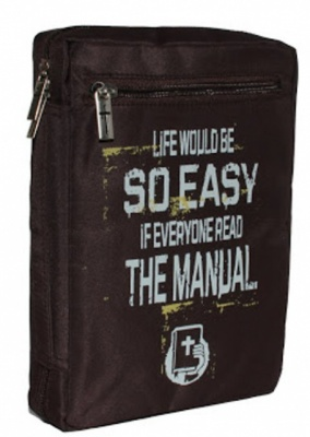 Life Would Be So Easy... Large Bible Cover