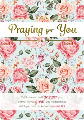 Foiled Praying for You - Jeremiah 33:3 Card