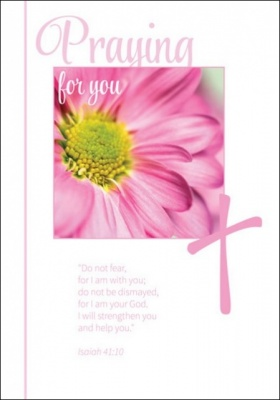 Praying for You - Greetings Card (Pink Daisy)