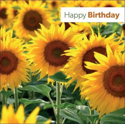 Happy Birthday - Greetings Card (Sunflower)