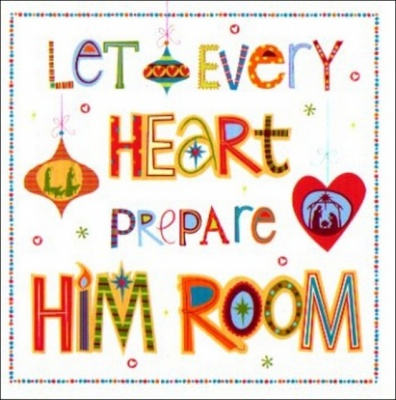 Let Every Heart Prepare Him Room Christmas Cards - Pack of 5