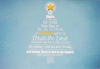 Luke 2:11-14 Christmas Tree Christmas Cards - Pack of 5