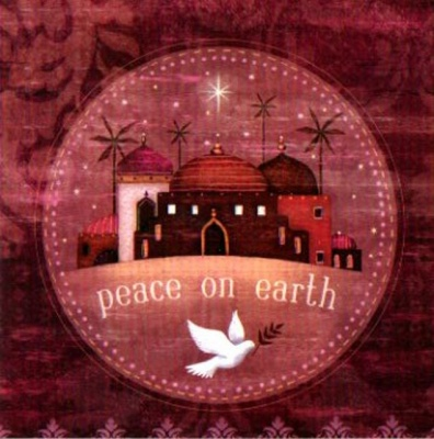 Peace on Earth Christmas Cards - Pack of 5