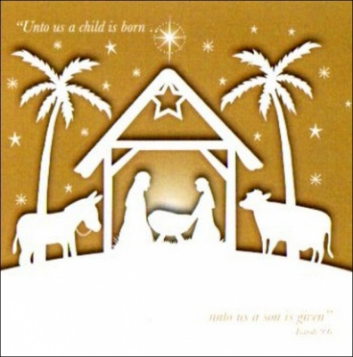 Unto us a Child is Born... Christmas Cards - Pack of 5