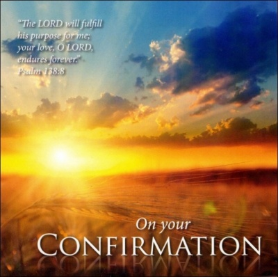 On Your Confirmation - Greetings Card