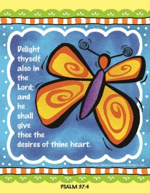Delight Thyself Also In The Lord - Fridge Magnet