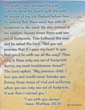 Footprints - Fridge Magnet